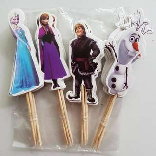 24pcs Disney Princess Frozen Anna  & Elsa Cake/Cupcake/Muffin Toppers for Party Decoration