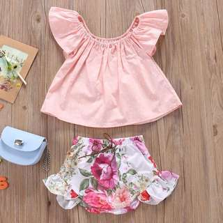 Ruffled flora 2 Pc outfit
