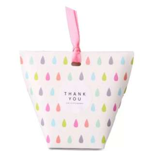 Korean Design Candies Gift Box Colorful Raindrops 6*6*10 in Pack of 10