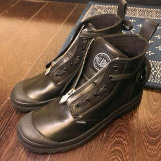 Palladium leader midcut boots black zip up