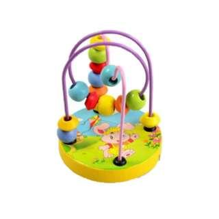Mini Wooden Rabbit Toy Maze Box Round Bead