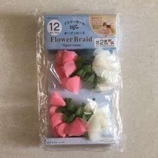Red/Pink Flower Braid