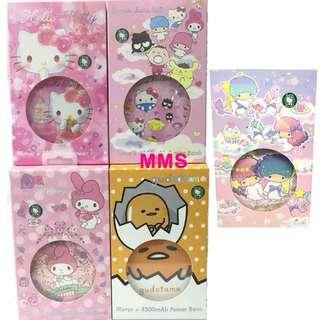 原裝行貨 Sanrio Hello Kitty 光環 鏡盒 化妝鏡 外置 充電 流動 電池