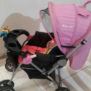 Pre Love baby 1st Pink Stroller