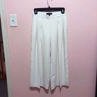 White formal Culotte pants