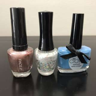Ciate and face shop nail polish