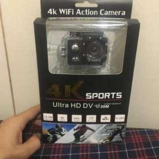 Macaroon Monopod (Blue) + Universal Clip Lens + 4k Sports Ultra HD Dv Sports Camera