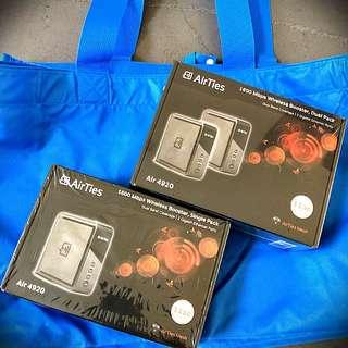 BNIB Airties Wifi Mesh 1600Mbps SINGLE/DUAL PACK (WILL SEND TO U)