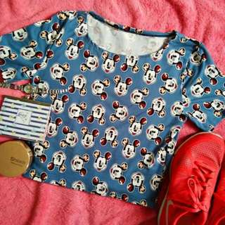 Crop top mickey