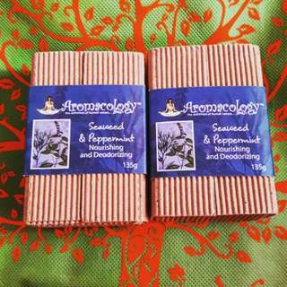 Aromacology Handmade Soaps: Seaweed and Peppermint
