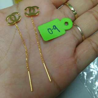 Pawnable Tictac Earrings(Chinese gold)