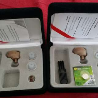 Hearing aid set for both ears