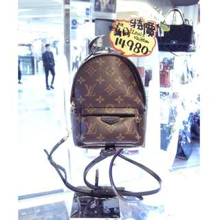 LV Louis Vuitton Brown Monogram Palm Springs Mini Backpack Crossbody Shoulder Hand Bag M41562 路易威登 啡色 LV花 老花 迷你 背包 背囊 斜揹袋 斜背袋 肩袋 袋 手袋