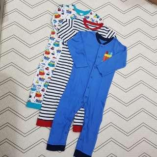 Boy sleepsuits set 1