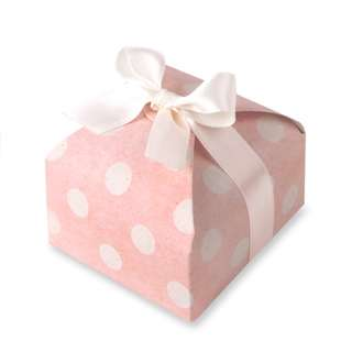 Korean Design Gift Box Polka Dot Peach 7.5*7.5*3.5cm in Pack of 10