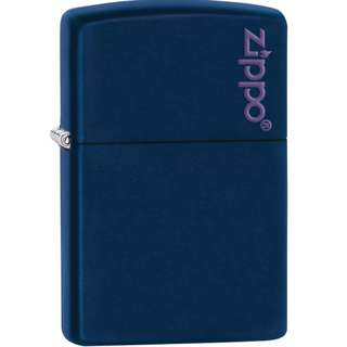 Zippo Lighter(Authentic) /NAVY BLUE Matte with Zippo Logo/windproof lighter/229ZL