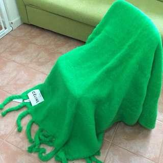 Celine 2017年冬季 - 棕櫚綠流蘇毛毯 (100%正品全新)