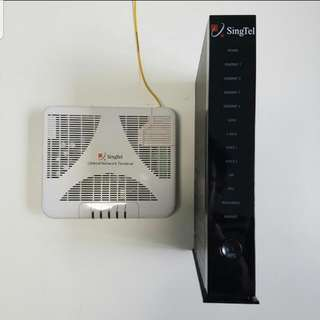 Singtel Optical Network Terminal & Router