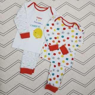 Boy sleepsuits set 2