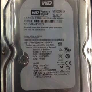 Wts new In packing wd 500gb Sata hdd