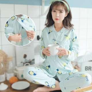 Maternity pyjamas confinement nursing too with pant