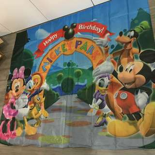 Mickey Mouse Clubhouse Party Backdrop