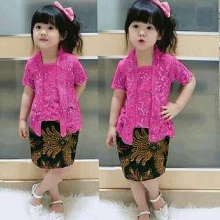 Baju batik anak perempuan usia 2-3 th