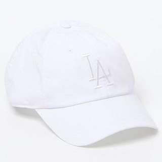LA all white baseball cap