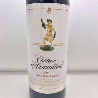 1990 Chateau d'Armailhac #wine #酒 #紅酒