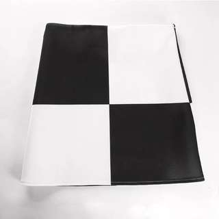 Black & White checkerboard fitted stretchy mini skirt