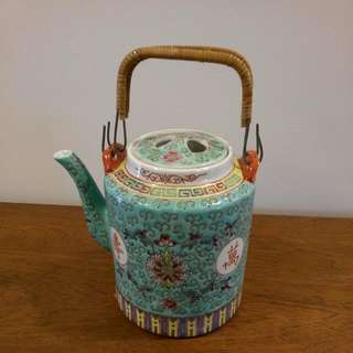 Turquoise Vintage Chinese Teapot