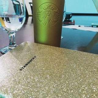 Gold Starbucks Shanghai Planner