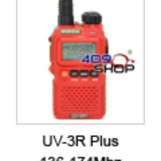 BAOFENG UV-3R+Plus RED 136-174/400-470Mhz+earpiece
