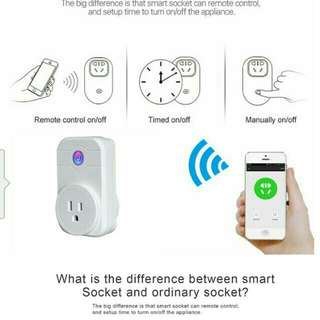 Wi-Fi Smart Socket with connection with mobile phone Apps