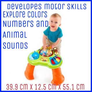Musical Learning Table Bright Starts Safari Sounds BNIB