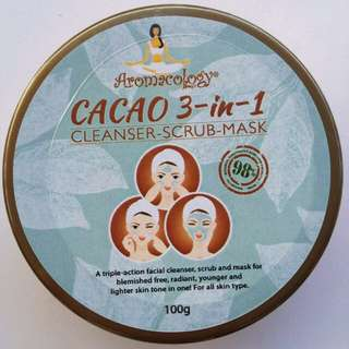 Aromacology Cacao 3-in-1 Cleanser, Scrub, and Mask