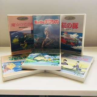 6 Ghibli Anime DVDs (Japanese Press, Region 2, English Subs)