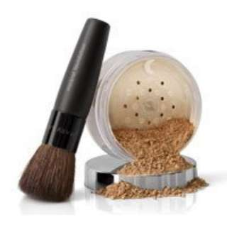 Mineral Powder Foundation ( Ivory 2 Shade)  with MK Mineral foundation Brush