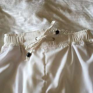 White Button Trousers