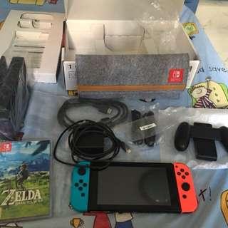Nintendo Switch [Export Set] with Legend Of Zelda BOTW