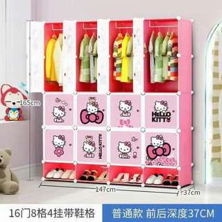 Hello kitty wardrobe and shoe rack