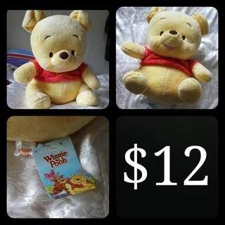 Winnie The Pooh Plushie Toy (NEW)