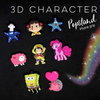 3D Character Popstand Phone Grip