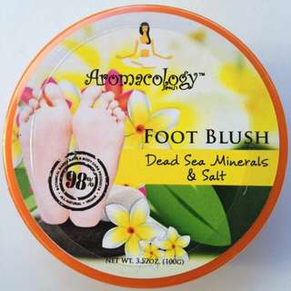 Aromacology Foot Blush: Dead Sea Minerals and Salt