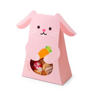Cute Animals Design Gift Box Pink Rabbit 16.5*10*5cm in Pack of 10
