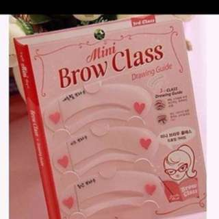 SALES $1.90 FOR 2 SETS -  KOREAN Mini Eyebrow Training Guide Stencil Template