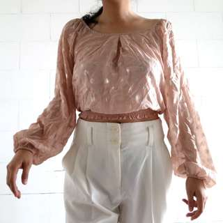 REPRICED! From 299 to 199!!! NEW Xhilaration sheer pink w/ shimmer gold details