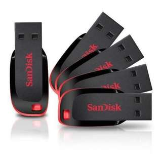 Ready Stock SanDisk Cruzer Blade USB Flash Drive