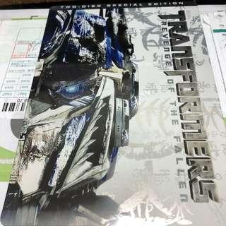 🚚 變形金剛Transformers Revenge Of The Fallen 2DVD限定鐵盒包裝