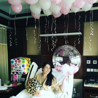 Get Well Soon balloon package